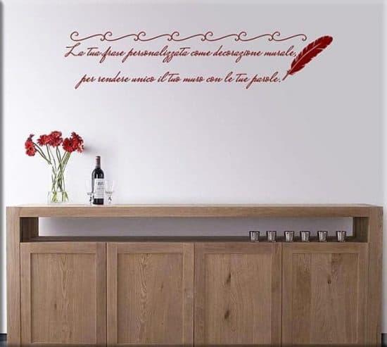 Adesivi da parete frase personalizzata poesia