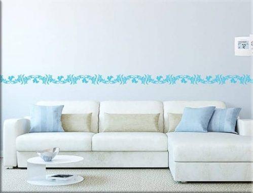 Adesivi da parete greca floreale