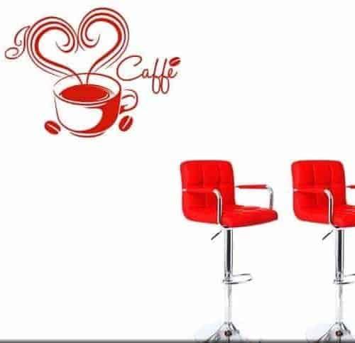 Adesivi da parete love caffè bar