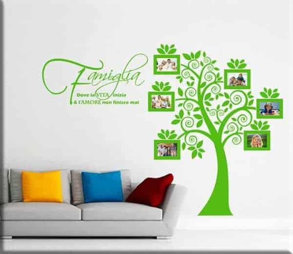 Adesivi da parete portafoto albero famiglia for Famiglia parete
