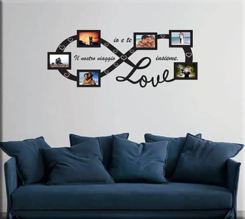 Adesivi murali cornici foto love