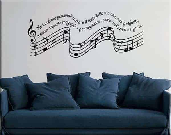 Adesivi murali frase personalizzata