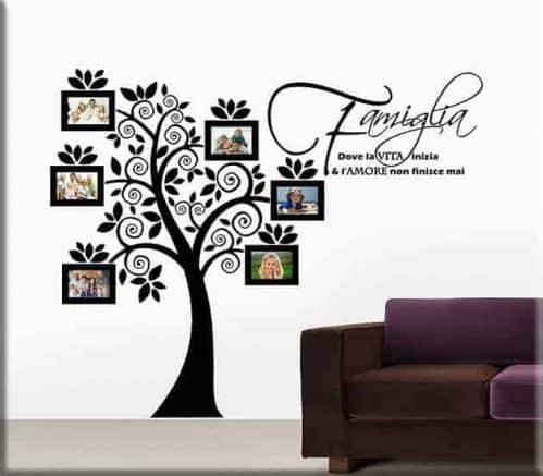 Adesivi murali portafoto albero famiglia