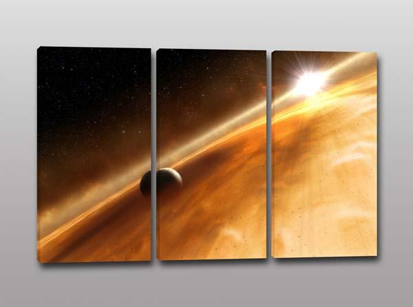 Quadri moderni pianeta spazio