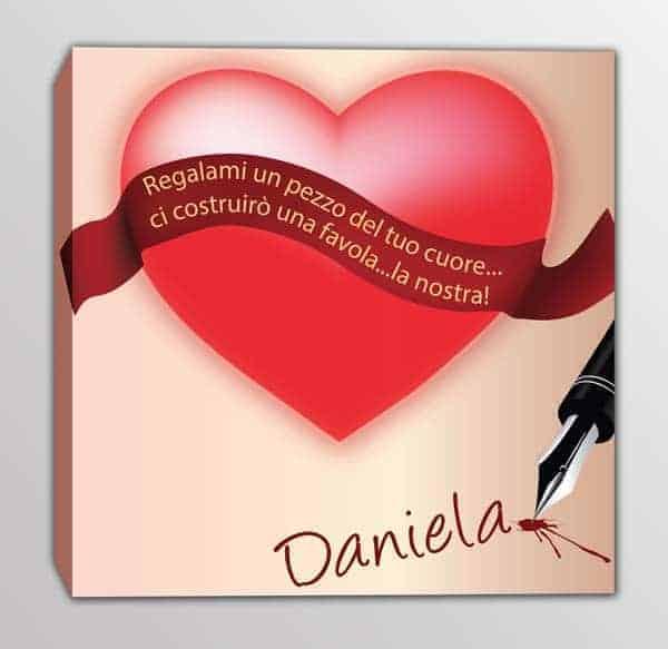 Quadro moderno frase personalizzato love
