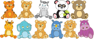 adesivi animali