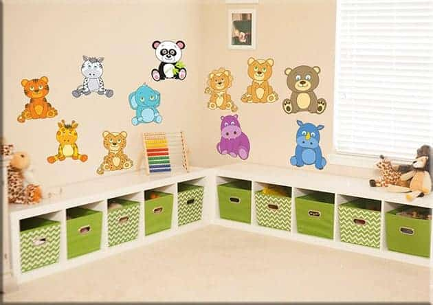 Adesivi murali cuccioli animali bimbi - Adesivi per cameretta bambini ...