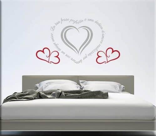 adesivi da parete frase personalizzata love