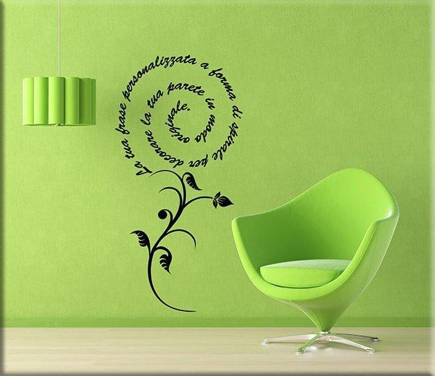 adesivi da parete frase personalizzata