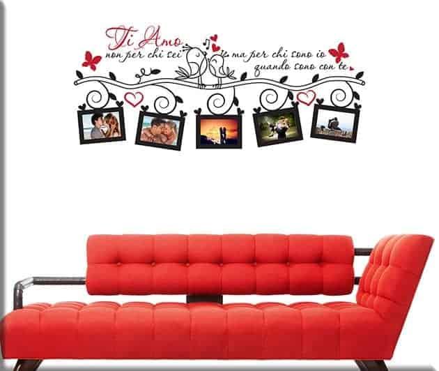 Adesivi murali portafoto frase d 39 amore arredi murali - Portafoto da parete ikea ...