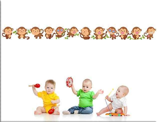 adesivi da parete scimmiette greche