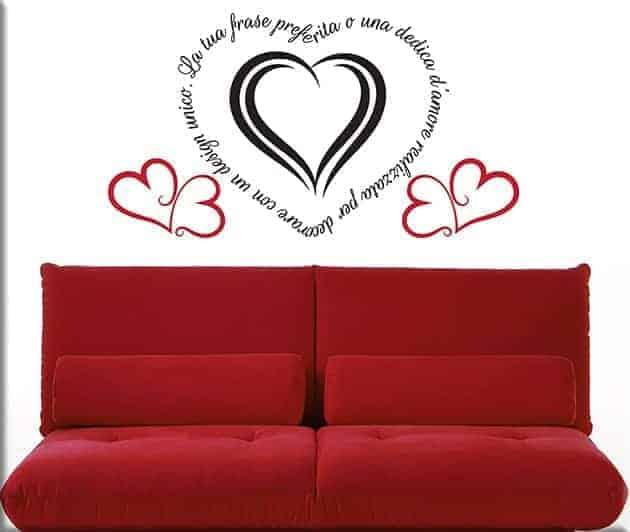 adesivi murali frase personalizzata love