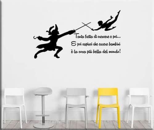 adesivi murali frase peter pan