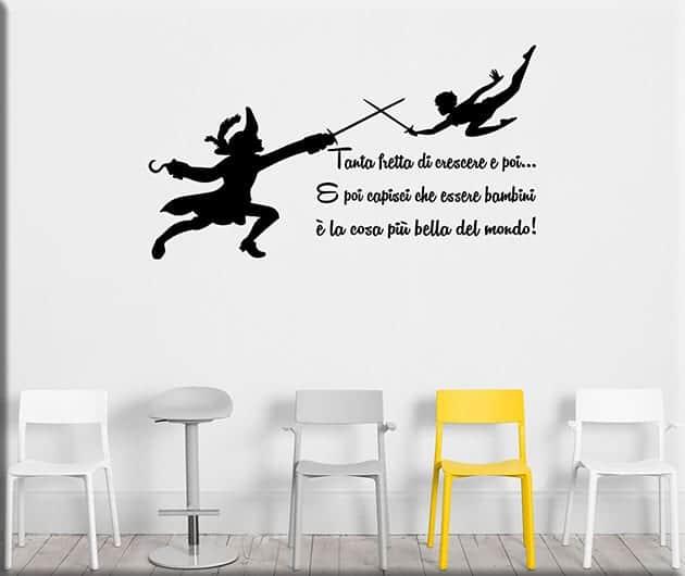 Adesivi murali frase peter pan - Adesivi murali per camerette bimbi ...