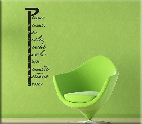 adesivi murali proverbio con la p