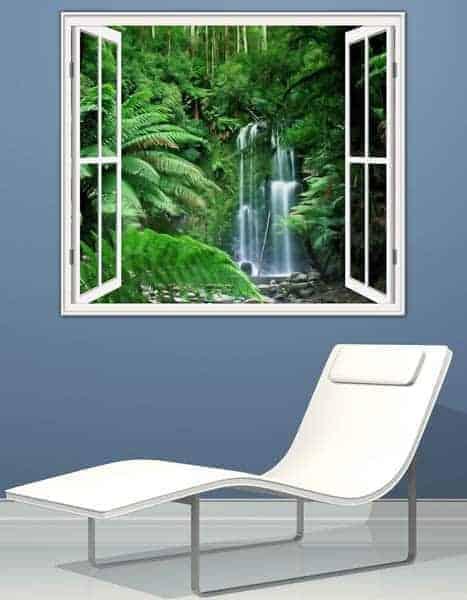 adesivo murale decorazione finestra