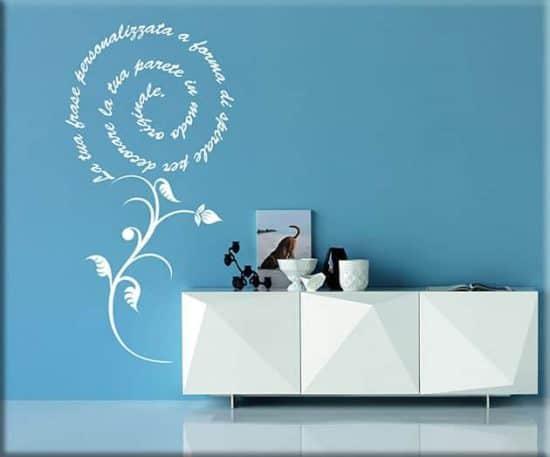 decorazioni adesive murali frase personalizzata