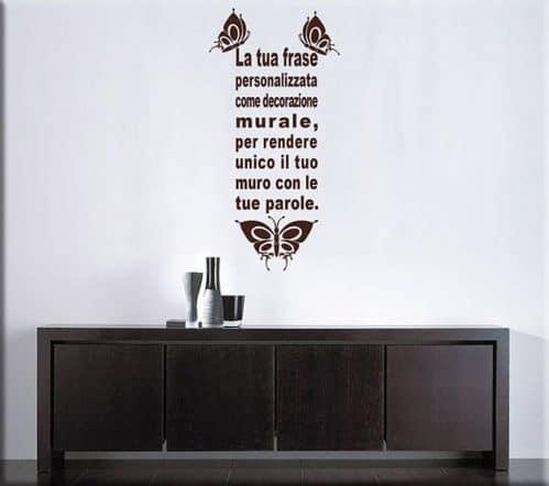 decorazioni adesive murali frase personalizzata farfalle