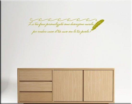 decorazioni adesive murali frase personalizzata poesia