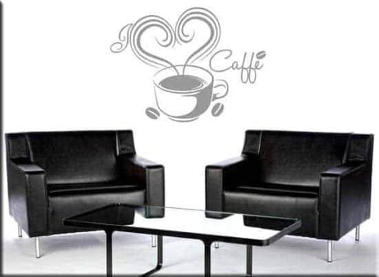decorazioni adesive murali love caffè bar