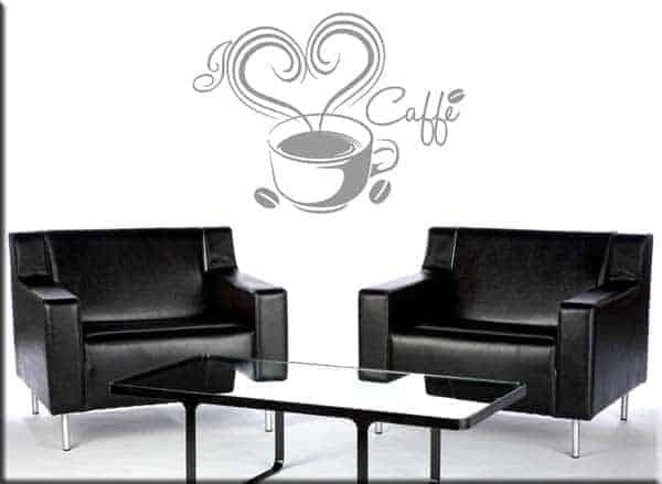 Adesivi da parete love caff bar for Decorazioni da parete adesive