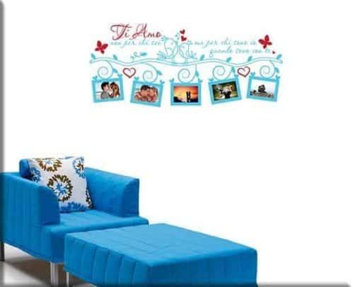 decorazioni adesive murali portafoto ti amo