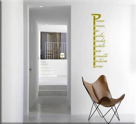 decorazioni adesive murali proverbio con la p