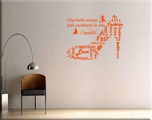 decorazioni adesive murali scarpa cenerentola