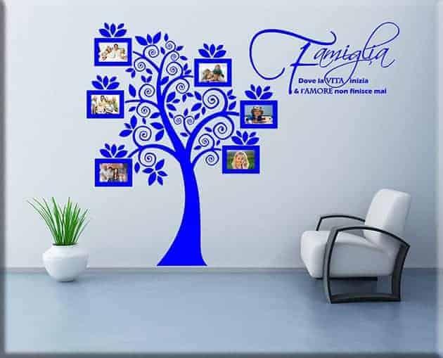 decorazioni murali portafoto albero famiglia