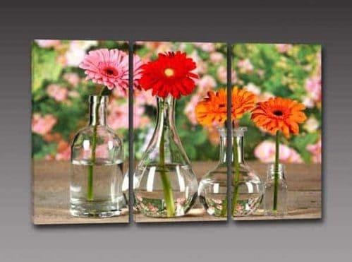 quadri moderni fiori stampa tela