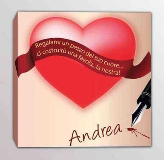 quadro moderno nome personalizzato love