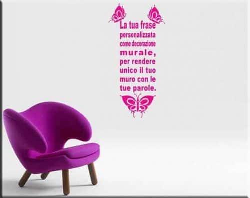 wall stickers frase personalizzata farfalle