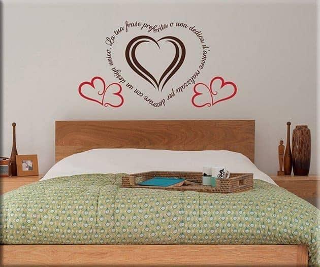 wall stickers frase personalizzata love