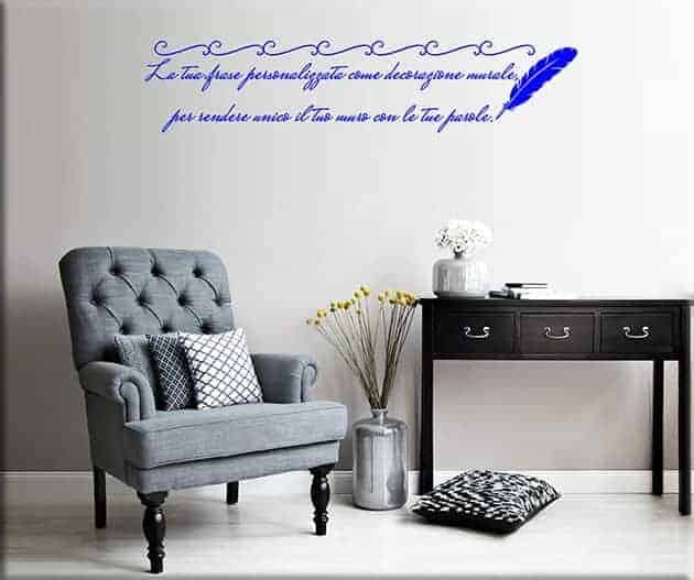 wall stickers frase personalizzata poesia