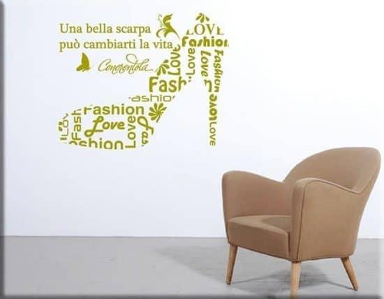 wall stickers frase scarpa cenerentola