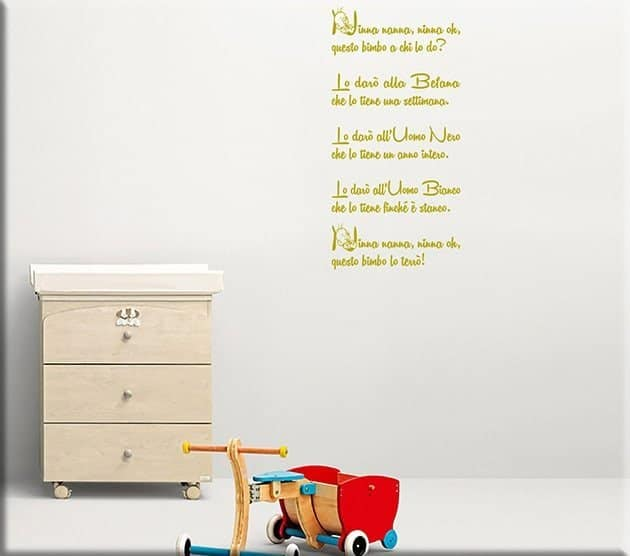 wall stickers ninna nanna bimbo