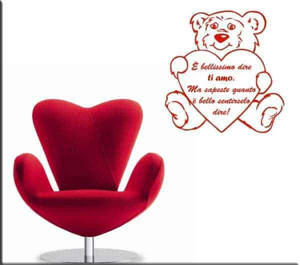 wall stickers orsacchiotto frase love