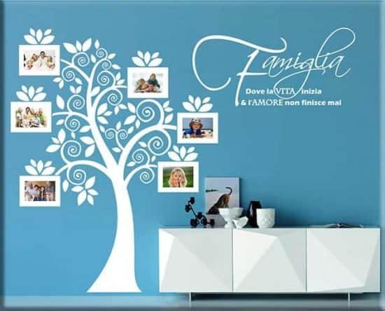 wall stickers portafoto albero famiglia