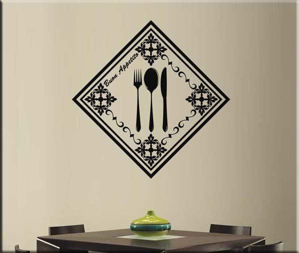 Adesivi murali cucina buon appetito
