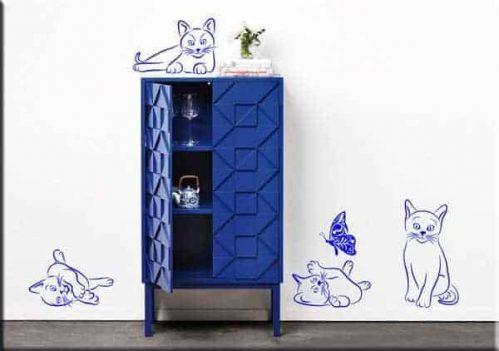Adesivi murali gatti decorazioni arredo