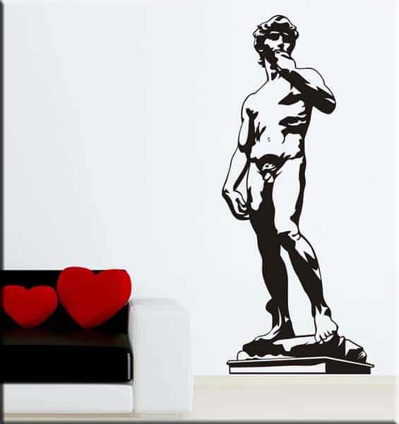 Adesivo murale David di Michelangelo