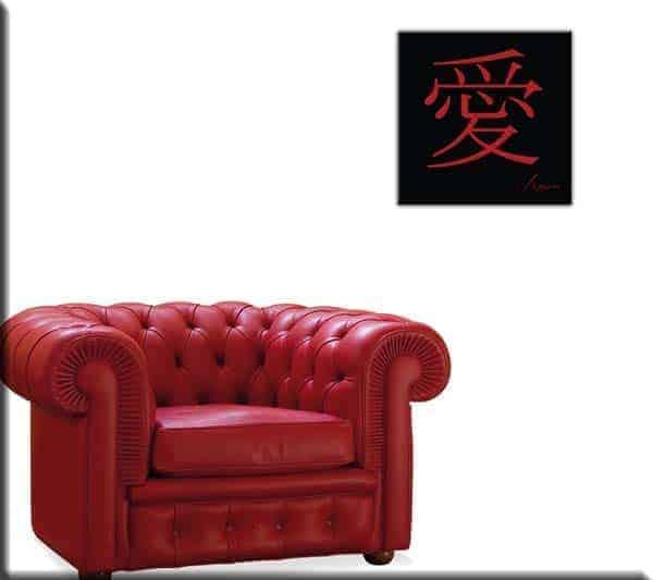 Quadro moderno simboli cinesi amore