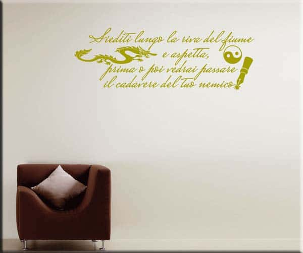 adesivi da parete proverbio cinese