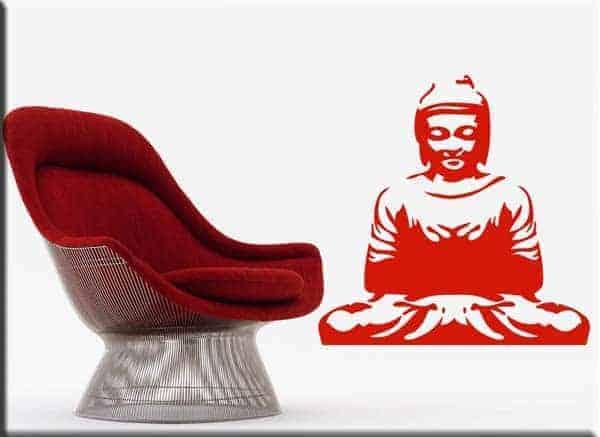 adesivo da parete buddha meditazione
