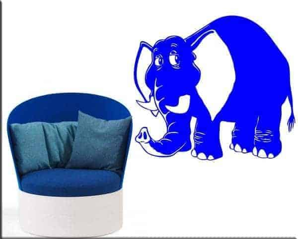 adesivo da parete elefante bimbi
