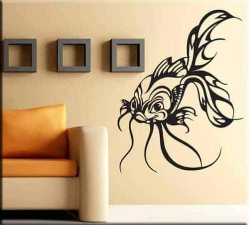adesivo da parete pesce stilizzato