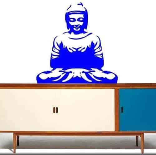 adesivo murale buddha meditazione