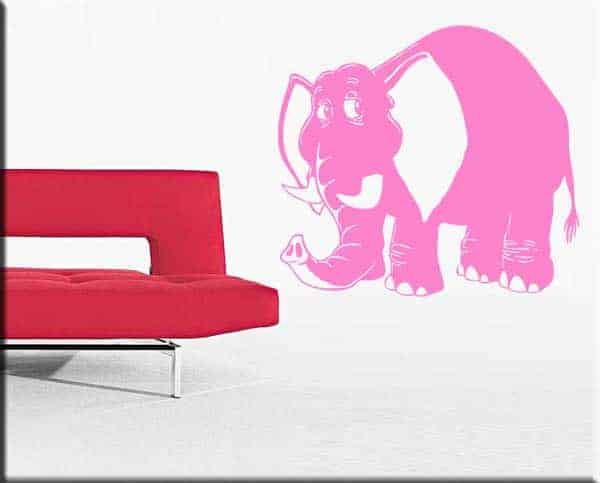 adesivo murale elefante bimbi