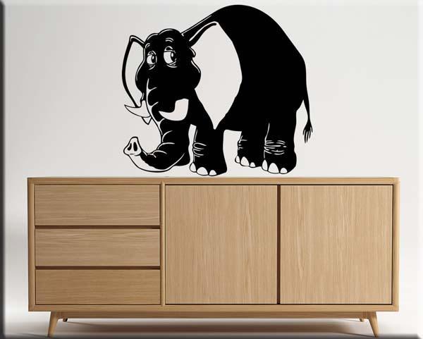 decorazione adesiva murale elefante bimbi