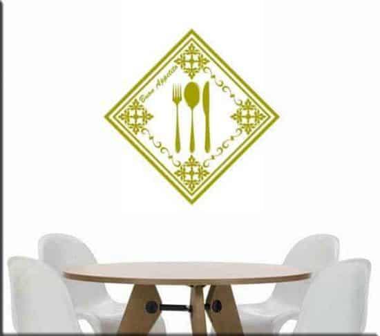 decorazioni adesive murali cucina buon appetito